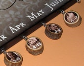FAMILY CELEBRATIONS Charms Only- Custom name or date charms with photo- 1""