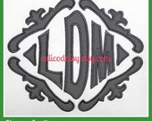 DIY Large Applique Framed Monogram Fabric Panel - Sew Your Own Pillow Cover or Sham