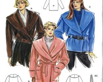 Burda 5000 Shawl Collar Coat Jacket Size 10 12 14 16 18 20 UNCUT Vintage Sewing Pattern
