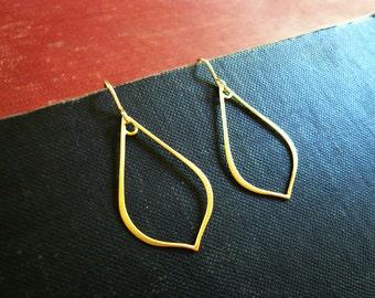 Arabesque Earrings in Gold - Large, Lightweight Gold Outline Earrings