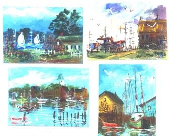 Impressions of Cape Ann  4 aceo nautical prints Jim Smeltz