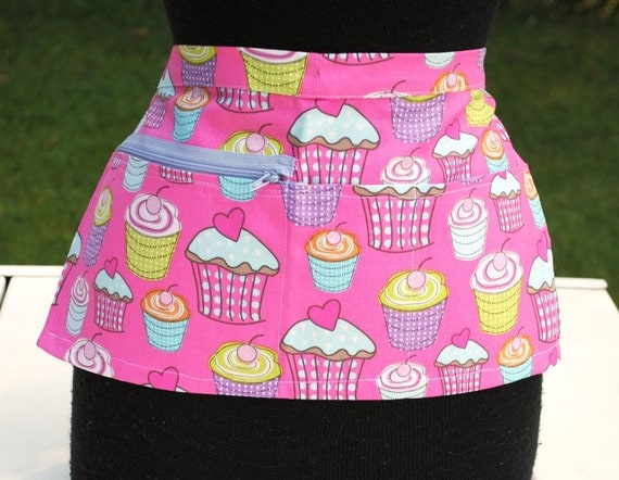Vendor Apron Server Apron Bakery Apron Travel Apron Pink Cupcake Heavy Weight Utility Craft
