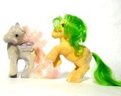 RESERVEDVintage G1 So Soft My Little Ponies Twilight & Magic Star