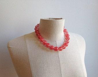 Antique 1900s Italian Glass Necklace.