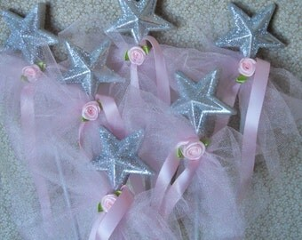 Pink Princess Party Favor Wands- set of 6