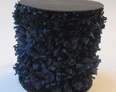 Handmade Crepe Fringe - Navy Blue