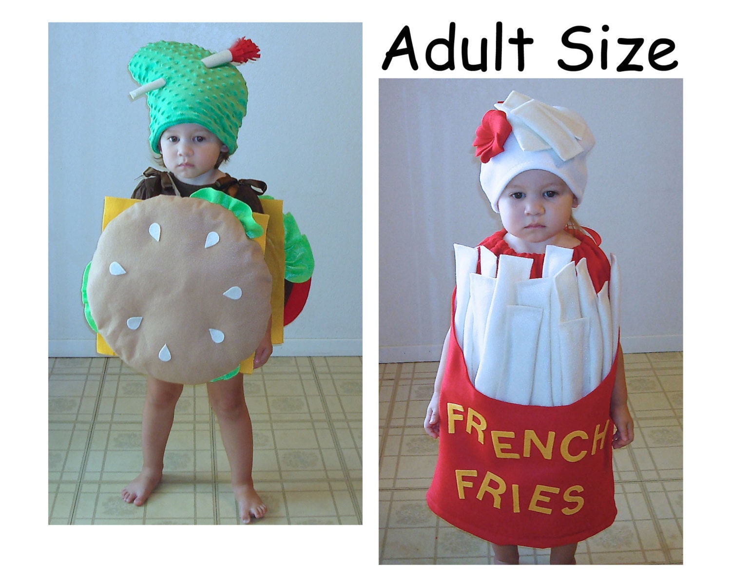 Adult Halloween Costumes Cheeseburger Fries Couples
