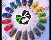 Gamer Girl Classic Nail Art Hand Painted Nail Wheel 18-Piece Set
