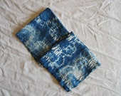 Vintage Linen Napkins shibori stitched with indigo hand dyed cloth napkin