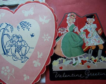 delightful vintage valentine paper ephemera