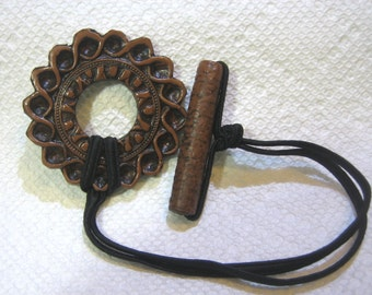 Dreadlocks Hair tie or Ponytail Holder for Dreads or Thick Hair or Sisterlocks Brown Medallion