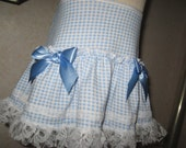 Baby Blue,White Gingham Check Lace Frilly Festival Mini Skirt,Punk,Lolita,All sizes,Goth,sequoia