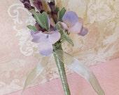 Wedding Guest Book Pen- Lavender Lilac Purple Hydrangea Pen