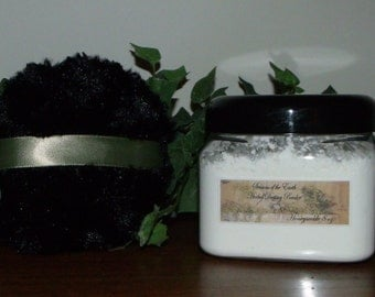 """8 oz. Natural Herbal Dusting Powder w/ Puff """"P-S"""" Scents"""