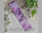 Beading Pattern : Arabesque Fushia Pink Bracelet Cuff - Instant Download
