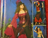 Costume Pattern for Gypsy, Witch or Harem Girl for Women
