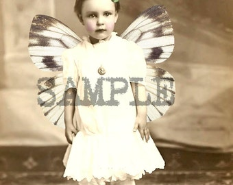 Digital Collage Sheet  Altered Children's Photos (Sheet no. O190) Instant Download
