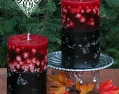 Samhain Fusion Pumpkin 2x3 Pillar Candle . Limited Edition . Break thru the Veil, Seance, Otherworldly Spirit Workings, Samhain