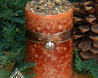 Pumpkin 2x3 Pillar Candle . Sugared Pumpkin, Cinnamon, Clove, Ginger, Lemon, Madagascar Vanilla and Cream