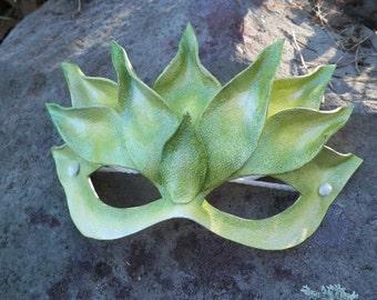 Green Lotus Leather Mask