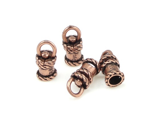 Swivel cord caps id mm antique copper end