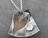 Love Wins - Faux Locket - Silver Necklace - Pendant