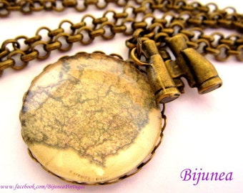 World map necklace - Map necklace - World necklace - Romantic world necklace - Map necklaces n684