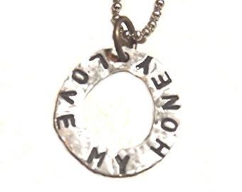 Love My Honey Pendant Necklace