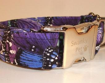 Beautiful Butterfly Print Collar by Swanky Pet