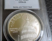 Reserved GB -1994-D Capitol PCGS MS69 Commemorative 1 Dollar Silver Coin