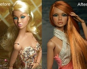"Commission spot for Full Reroot for your Vinyl 12"" Fashion Doll --Fashion Royalty, Poppy Parker, Integrity, Momoko"