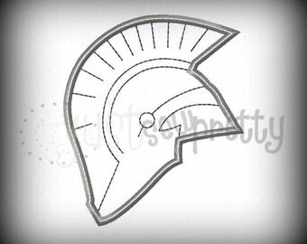 Trojan Single Silhouette Embroidery Applique Design