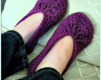 Download Now - CROCHET PATTERN Comfy House Shoes - Ladies Sizes - Pattern PDF