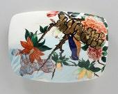 Ultra Kutani (Cathode Ray Tube Tile Series) - Porcelain Wall Tile with custom silkscreen overglaze decals, Kutani enamels, and gold