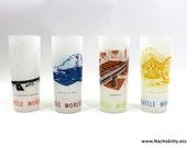 1960s Seattle Worlds Fair Glass Set Century 21 Sponsor