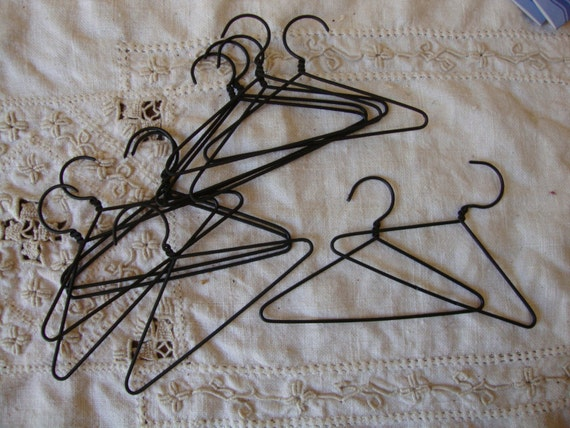 mini wire hangers 3 clothes hanger black metal craft On mini hangers for crafts