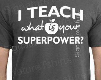 Appreciation Gift for Teacher tshirt I Teach humor cool gift math science T-shirt funny shirt mens womens girls geek Holiday present tshirt