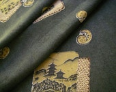Vintage muslin Japanese kimono fabric (Daruma)very good condition