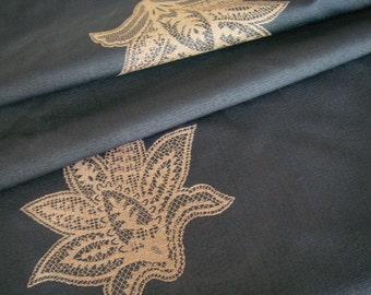 Vintage Japanese kimono fabric (blue)
