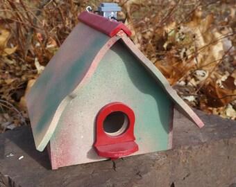 Poppi's Green Splatter Round Door Birdhouse