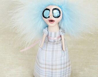 Heather - A Regency Peg Doll Art Doll