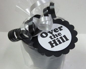 Over the Hill Birthday Candle Favors  5 - 4oz Jar Soy Candle favors