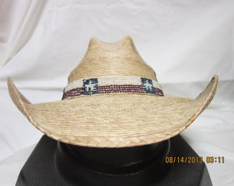 Texas Cowboy Beaded Hat Band