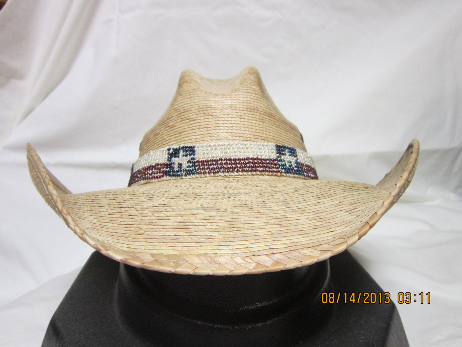 cowboy beaded hat band by phyllispcreations on etsy