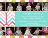 Colorful Photo Collage Birthday Invitation