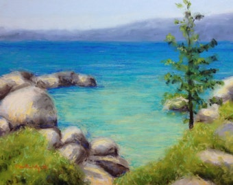 Summer Cove - Original Pastel Painting by Paige Smith-Wyatt