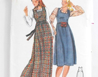 Jumper Dress Sewing Pattern by Butterick 5135 Misses size 12 Vintage 70s pattern