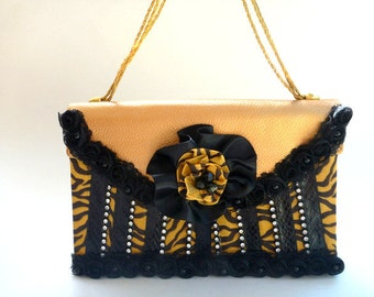 Gothic bronze handbag, Rockabilly wedding, boho clutch, cocktail purse, evening bag, Victorian purse, steampunk handbag, fall fashion, gift