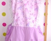 Super Pretty Unicorn Bloomerees's set UK 10 12 14 pink and lilac fairy kei Romper playsuit with leg warmers, arm warmers, bow and headband