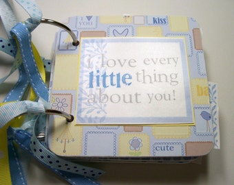 Baby Boy Mini Scrapbook Album, Baby Boy Scrapbook, Baby Boy Mini Album, Baby Boy Photo Album, Baby Boy Brag Book, Baby Boy Album